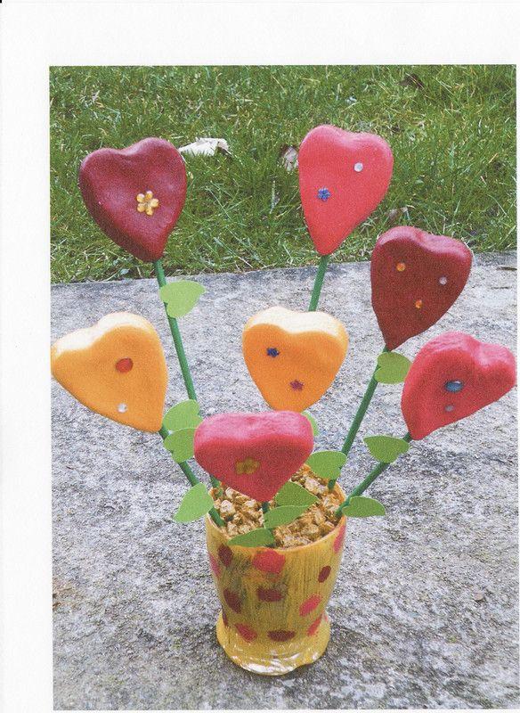 pot avec fleurs en p 226 te 224 sel
